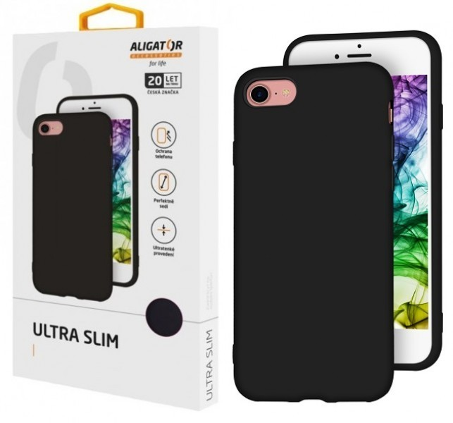 Silikonové pouzdro ALIGATOR Ultra Slim pro Realme 7i/C12, černá