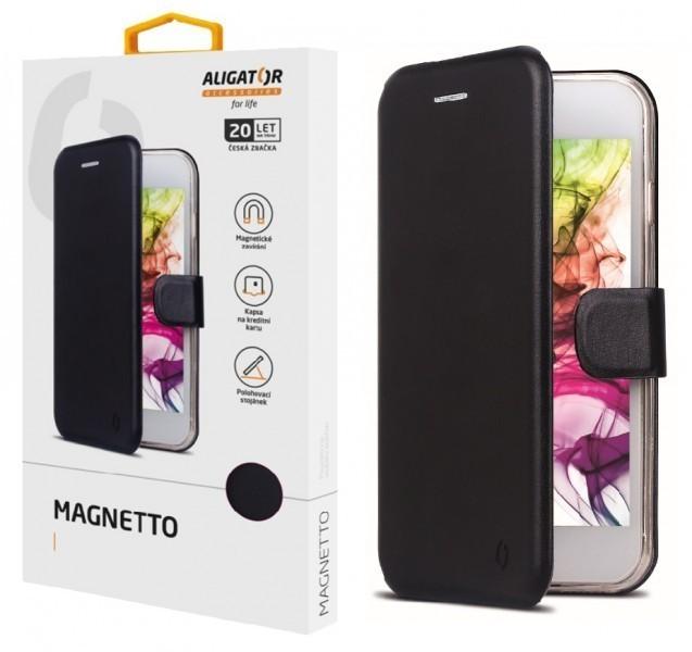 Flipové pouzdro ALIGATOR Magnetto pro Realme 8, 8 Pro, černá
