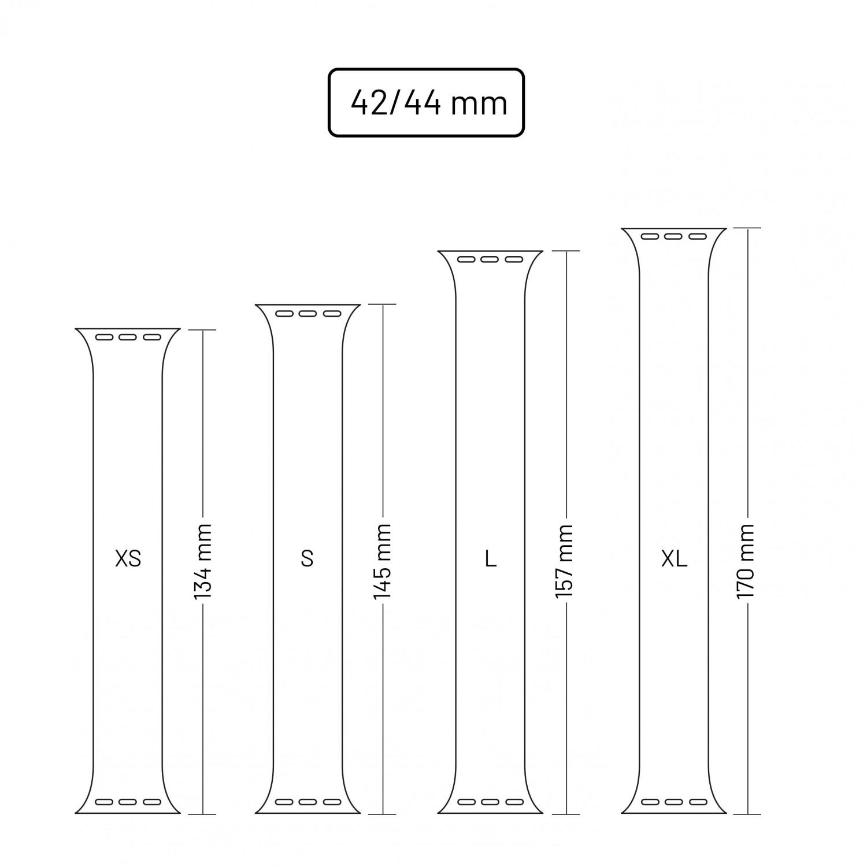 Elastický silikonový řemínek FIXED Silicone Strap pro Apple Watch 42/44mm, velikost L, černý