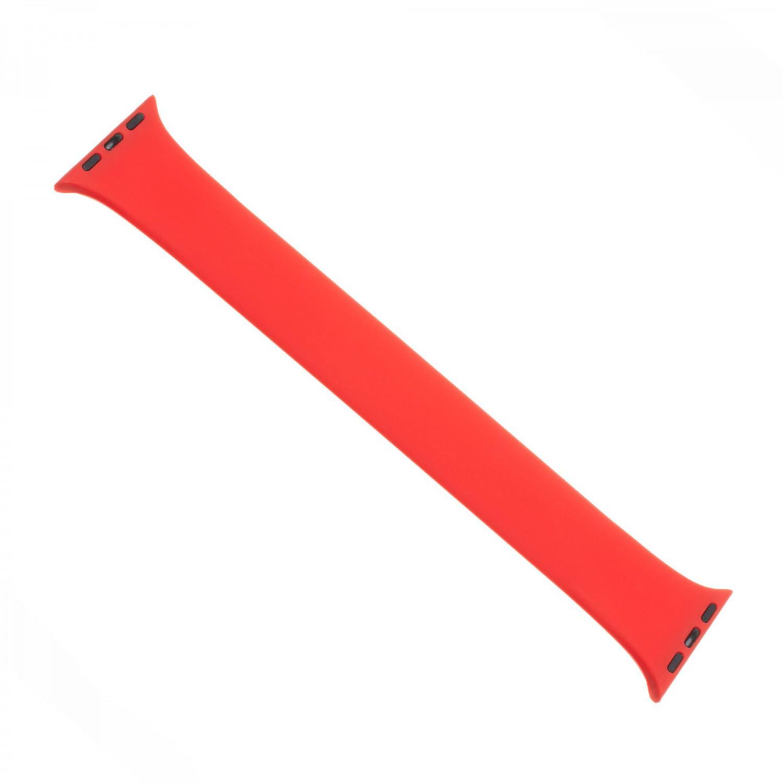 Elastický silikonový řemínek FIXED Silicone Strap pro Apple Watch 38/40mm, velikost S, červený