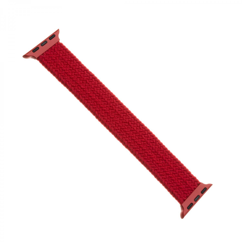 Elastický nylonový řemínek FIXED Nylon Strap pro Apple Watch 42/44mm, velikost S, červený
