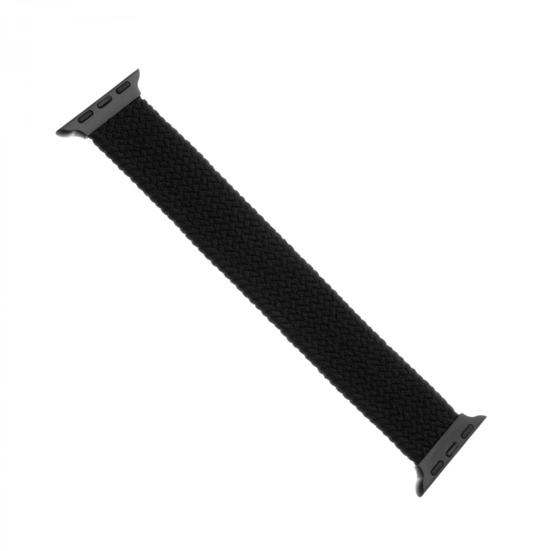 Elastický nylonový řemínek FIXED Nylon Strap pro Apple Watch 42/44mm, velikost S, černý