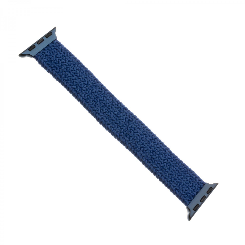 Elastický nylonový řemínek FIXED Nylon Strap pro Apple Watch 42/44mm, velikost L, modrý