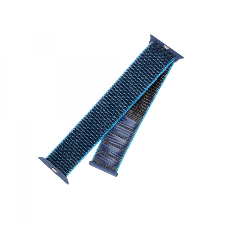 Nylonový řemínek FIXED Nylon Strap pro Apple Watch 40mm/ Watch 38mm, šedomodrý