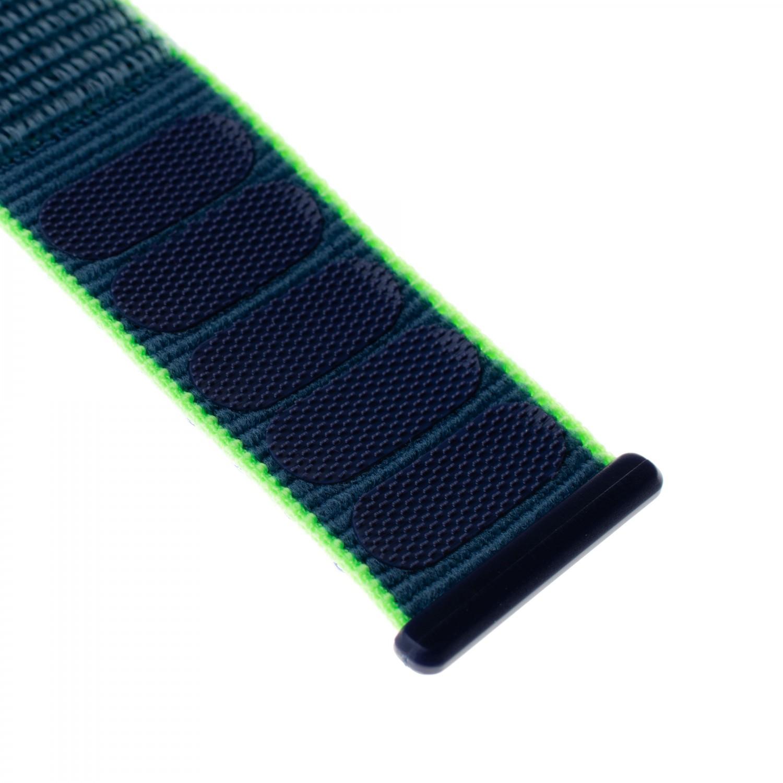 Nylonový řemínek FIXED Nylon Strap pro Apple Watch 40mm/ Watch 38mm, neonově modrý