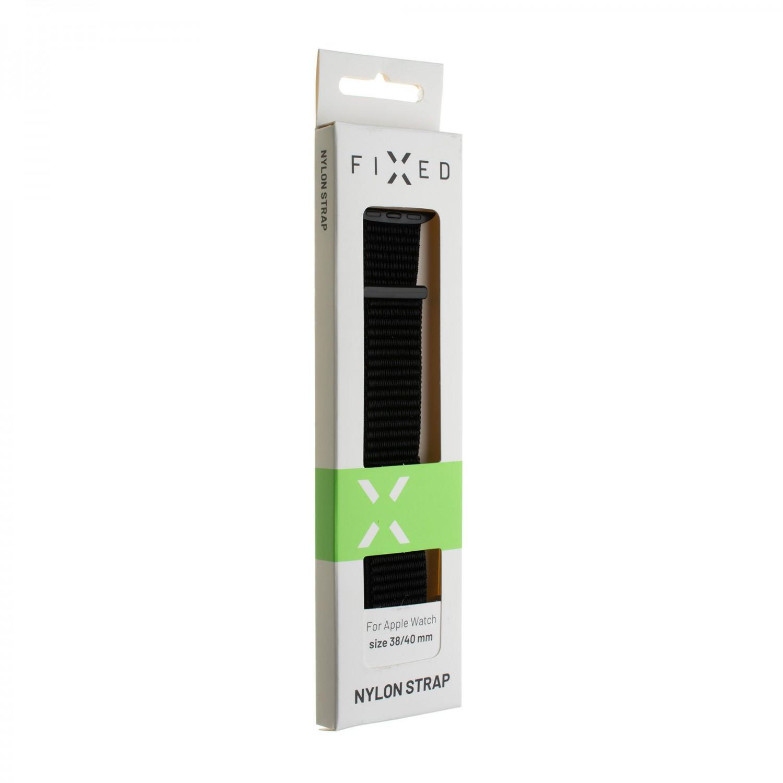 Nylonový řemínek FIXED Nylon Strap pro Apple Watch 40mm/ Watch 38mm, šedý
