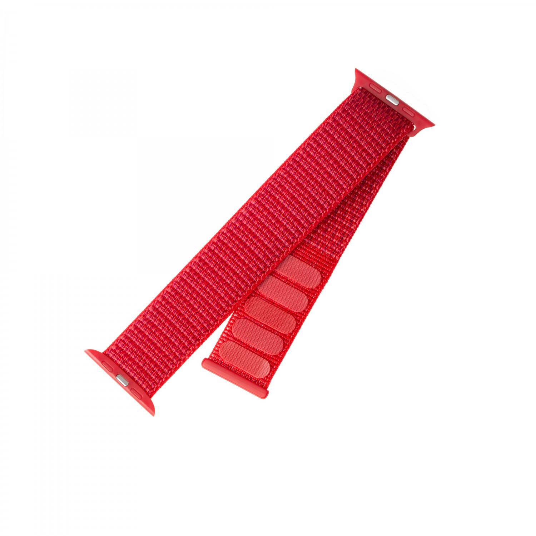 Nylonový řemínek FIXED Nylon Strap pro Apple Watch 40mm/ Watch 38mm, červený