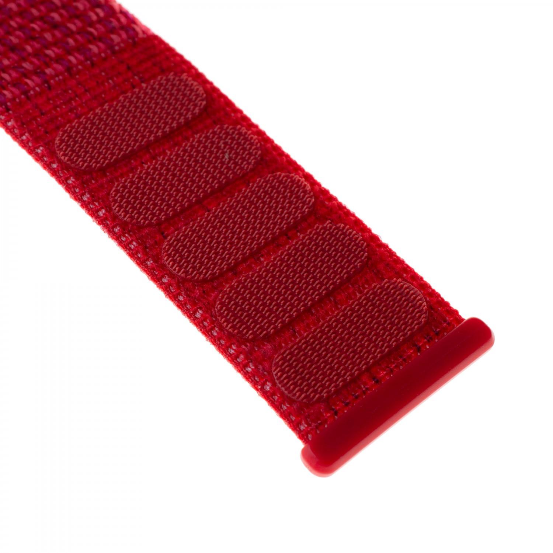 Nylonový řemínek FIXED Nylon Strap pro Apple Watch 44mm/ Watch 42mm, červený