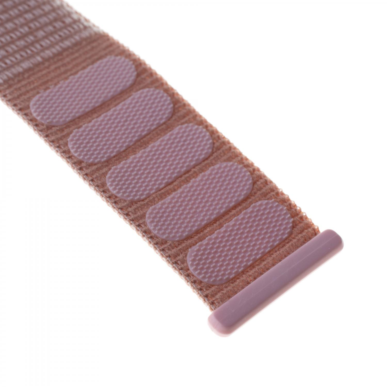Nylonový řemínek FIXED Nylon Strap pro Apple Watch 40mm/ Watch 38mm, růžově zlatý