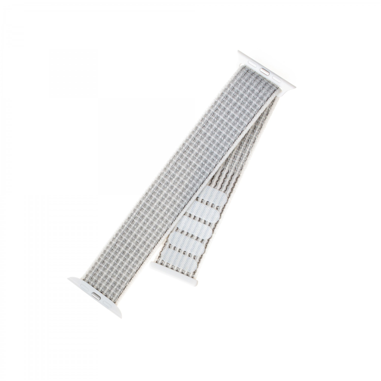 Nylonový řemínek FIXED Nylon Strap pro Apple Watch 40mm/ Watch 38mm, bílý