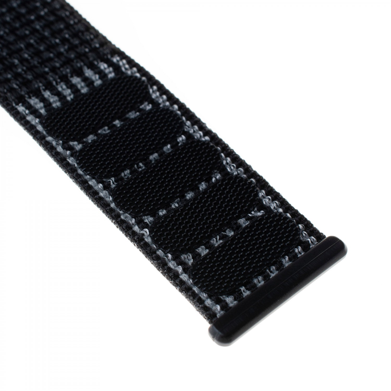 Nylonový řemínek FIXED Nylon Strap pro Apple Watch 40mm/ Watch 38mm, reflexně černý