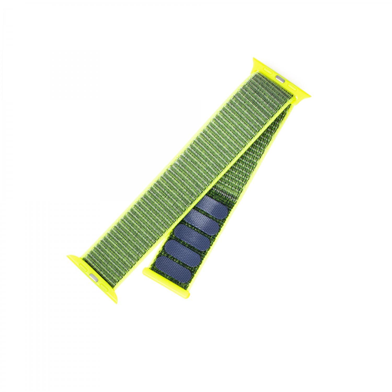 Nylonový řemínek FIXED Nylon Strap pro Apple Watch 44mm/ Watch 42mm, tmavě limetkový