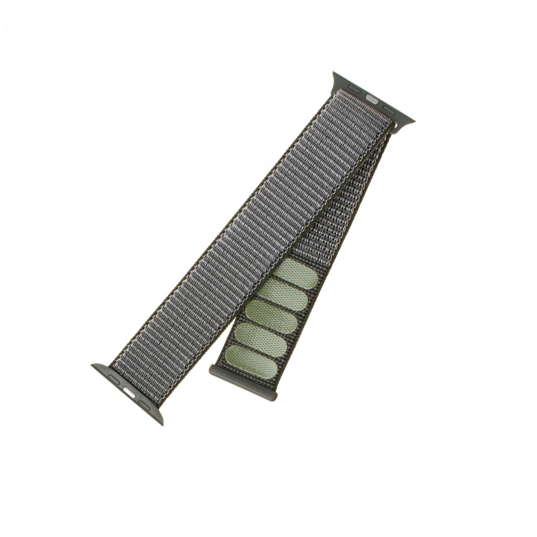 Nylonový řemínek FIXED Nylon Strap pro Apple Watch 40mm/ Watch 38mm, olivový