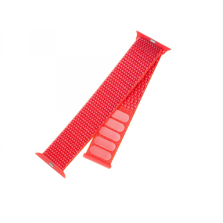 Nylonový řemínek FIXED Nylon Strap pro Apple Watch 44mm/ Watch 42mm, tmavě růžový