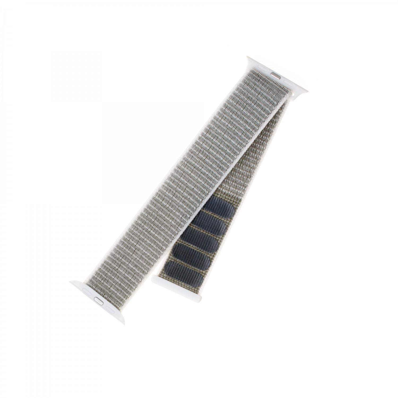 Nylonový řemínek FIXED Nylon Strap pro Apple Watch 40mm/ Watch 38mm, bílošedý