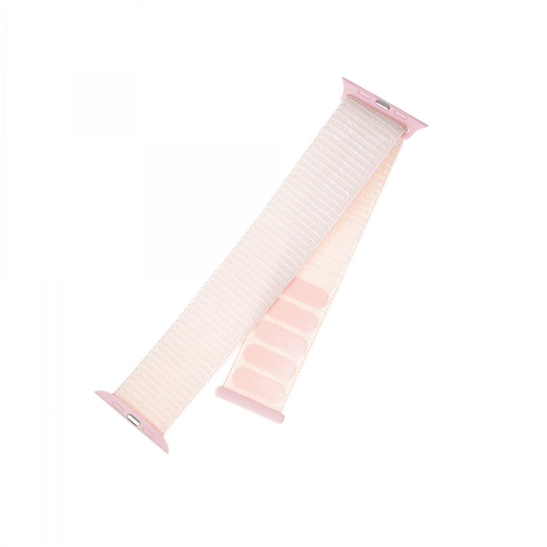 Nylonový řemínek FIXED Nylon Strap pro Apple Watch 40mm/ Watch 38mm, růžový