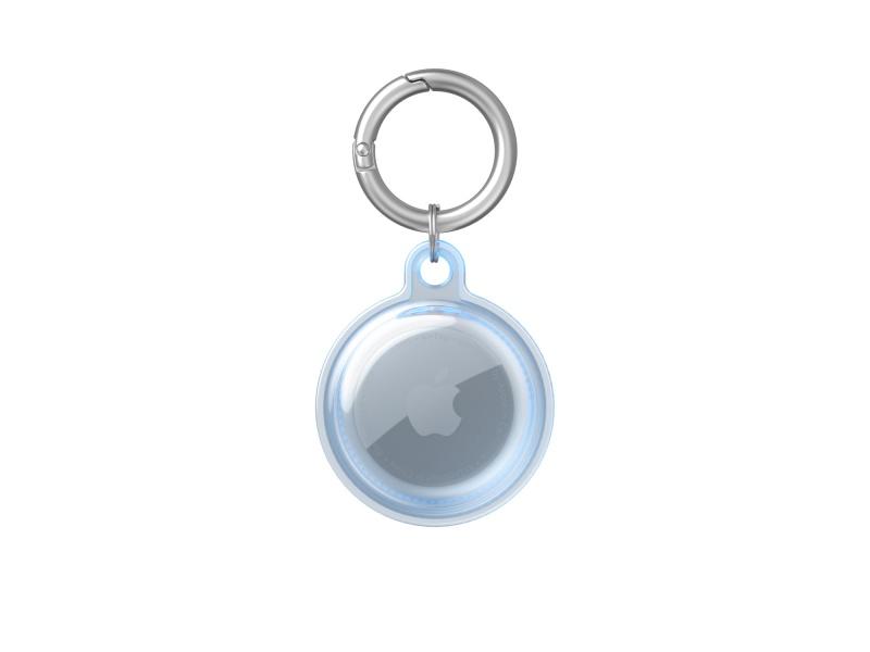 TPU Transparent Protective Cover for Apple AirTag Blue (Bulk)
