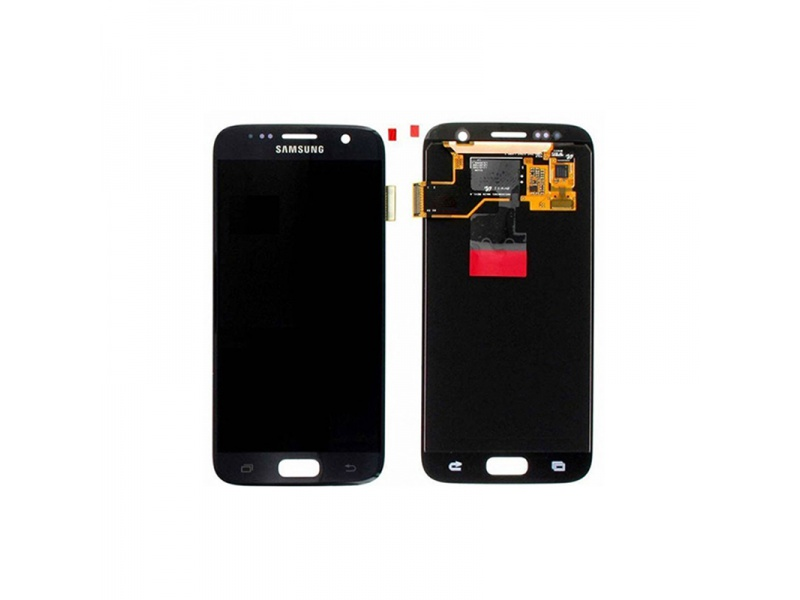 Samsung Galaxy S7 G930 LCD + Touch + Frame Black (Service Pack)