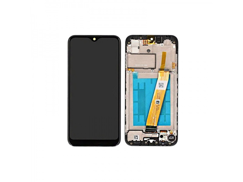 Samsung Galaxy M12 M127 LCD + Touch + Frame Black (Service Pack)