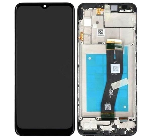 ND Samsung A025 Galaxy A02s, LCD modul, black/černá (Service Pack)