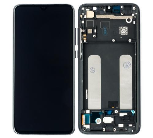 ND Xiaomi Mi9 Lite, LCD modul + přední kryt, černá