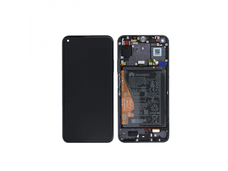 Honor 20 / Nova 5T LCD + Touch + Frame + Battery Black (Service Pack)