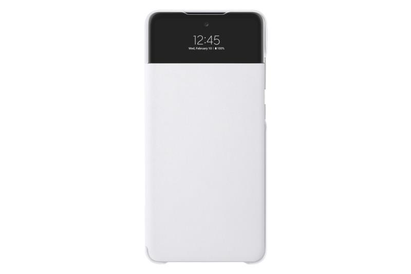 Flipové S View flipové pouzdro pro EF-EA725PWEGEE Samsung Galaxy A72, bílá