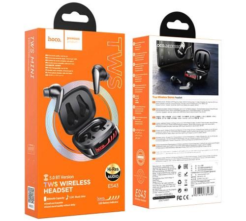HF, sluchátka Bluetooth HOCO ES43 Lucky sound, TWS stereo, nabíjecí pouzdro, černá