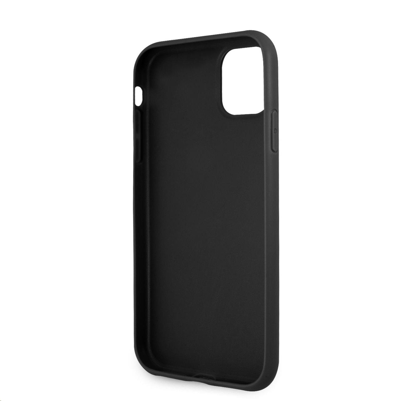 Zadní kryt Guess PU 4G Metal Logo GUHCN614GMGGR pro Apple iPhone 11, šedá
