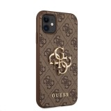 Zadní kryt Guess PU 4G Metal Logo GUHCN614GMGBR pro Apple iPhone 11, hnědá