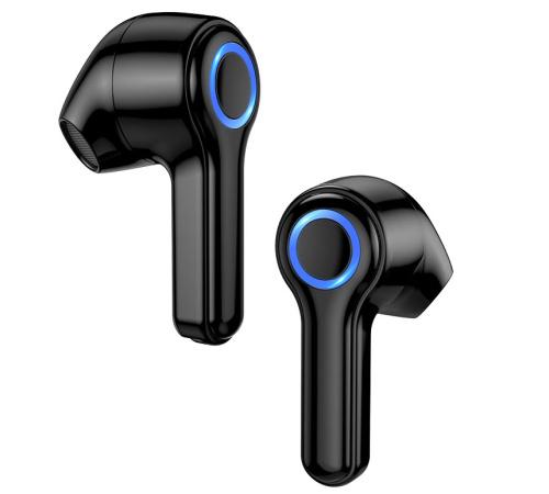 HF, sluchátka Bluetooth HOCO ES45 Harmony sound, TWS stereo, nabíjecí pouzdro, černá