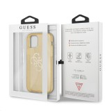 Guess TPU Big 4G Full Glitter Zadní Kryt pro iPhone 12 Pro Max Gold
