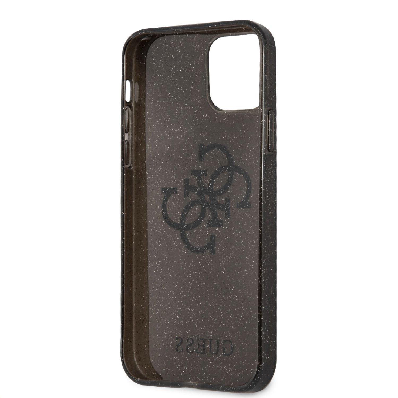 Zadní kryt Guess TPU Big 4G Full Glitter GUHCP12LPCUGL4GBK pro Apple iPhone 12 Pro Max, černá