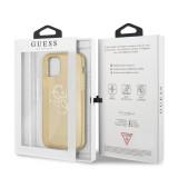Zadní kryt Guess TPU Big 4G Full Glitter GUHCP12MPCUGL4GGO pro Apple iPhone 12/12 Pro, zlatá