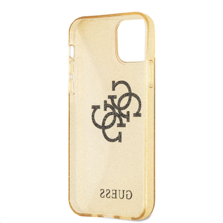 Zadní kryt Guess TPU Big 4G Full Glitter GUHCN61PCUGL4GGO pro Apple iPhone 11, zlatá
