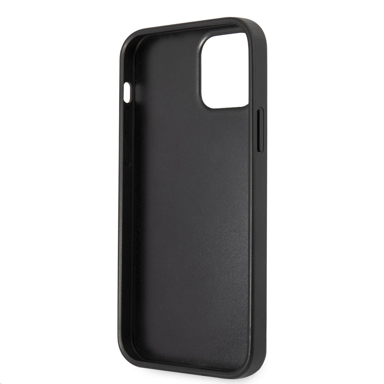 Zadní kryt Guess PU Saffiano Big 4G Metal Logo GUHCP12LSA4GGBK pro Apple iPhone 12 Pro Max, černá