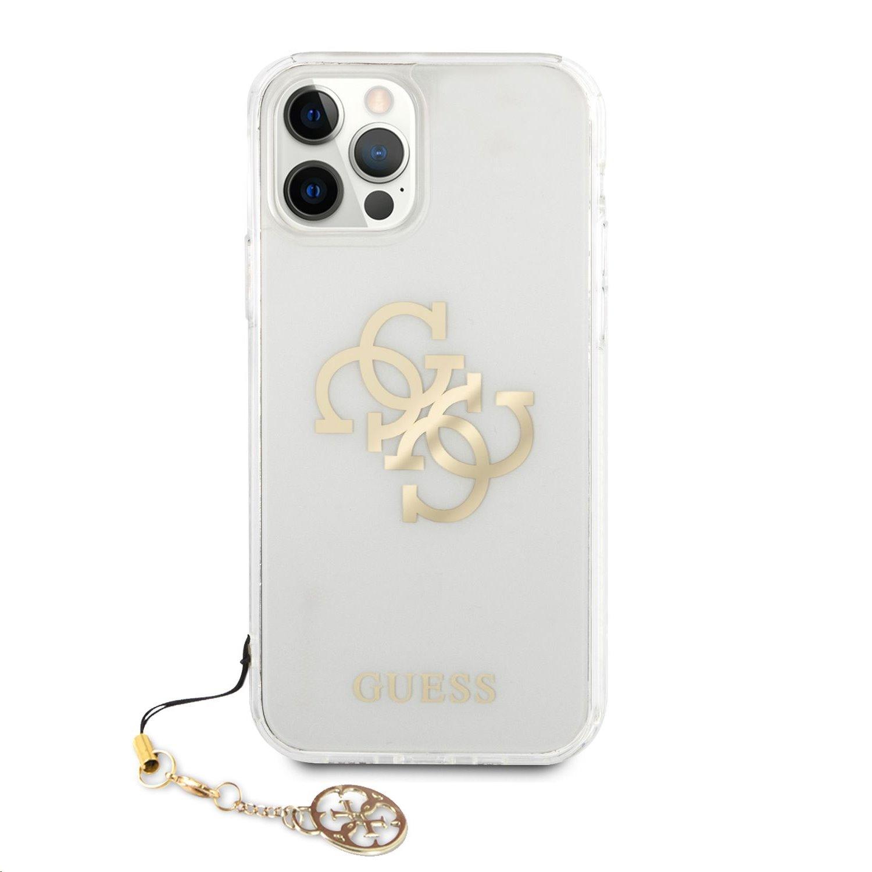 Zadní kryt Guess TPU Big 4G Logo Gold GUHCP12LKS4GGO pro Apple iPhone 12 Pro Max, transparentní