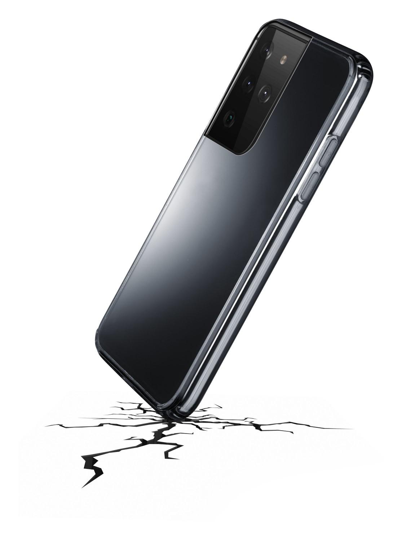 Zadní kryt Cellularline Clear Duo pro Samsung Galaxy S21 Ultra, transparentní