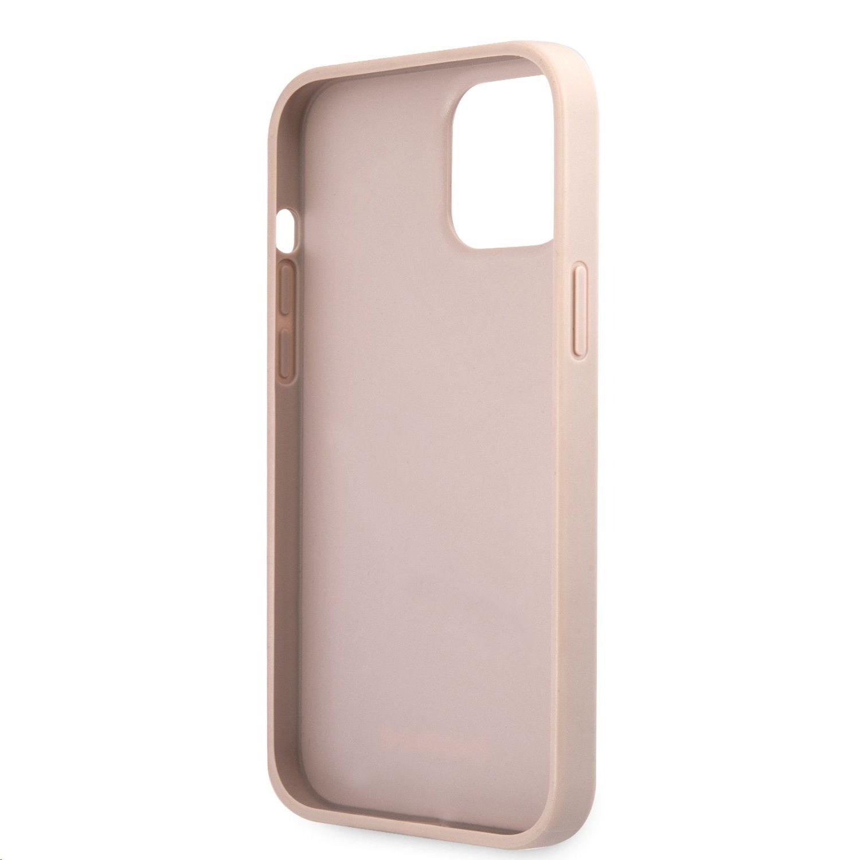 Zadní kryt Guess PU 4G Metal Logo GUHCP12M4GMGPI pro Apple iPhone 12/12 Pro, růžová
