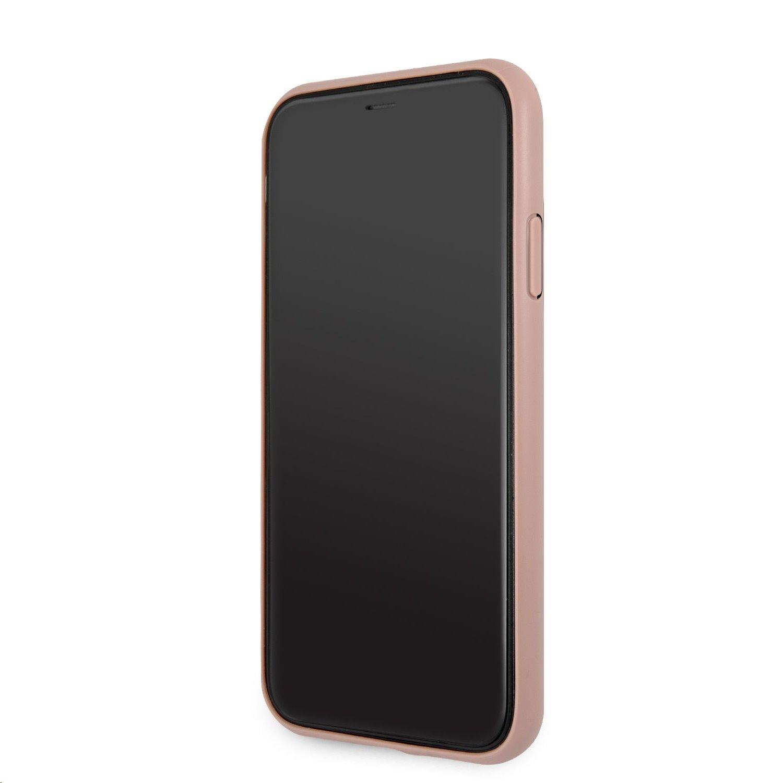 Zadní kryt Guess PU 4G Metal Logo GUHCN614GMGPI pro Apple iPhone 11, růžová