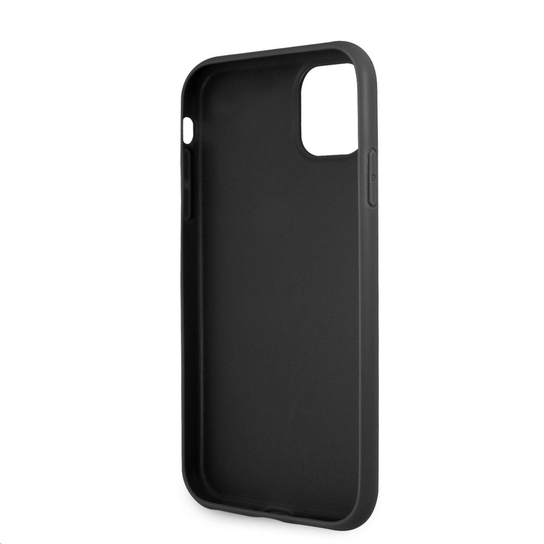 Zadní kryt Guess PU 4G Printed Stripe GUHCN614GDGR pro Apple iPhone 11, šedá