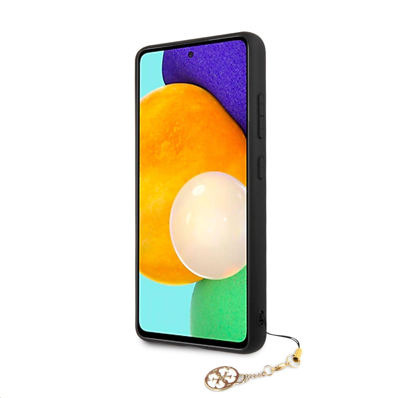 Zadní kryt GUHCA52GF4GBR Guess PU 4G Charm pro Samsung Galaxy A52, hnědá