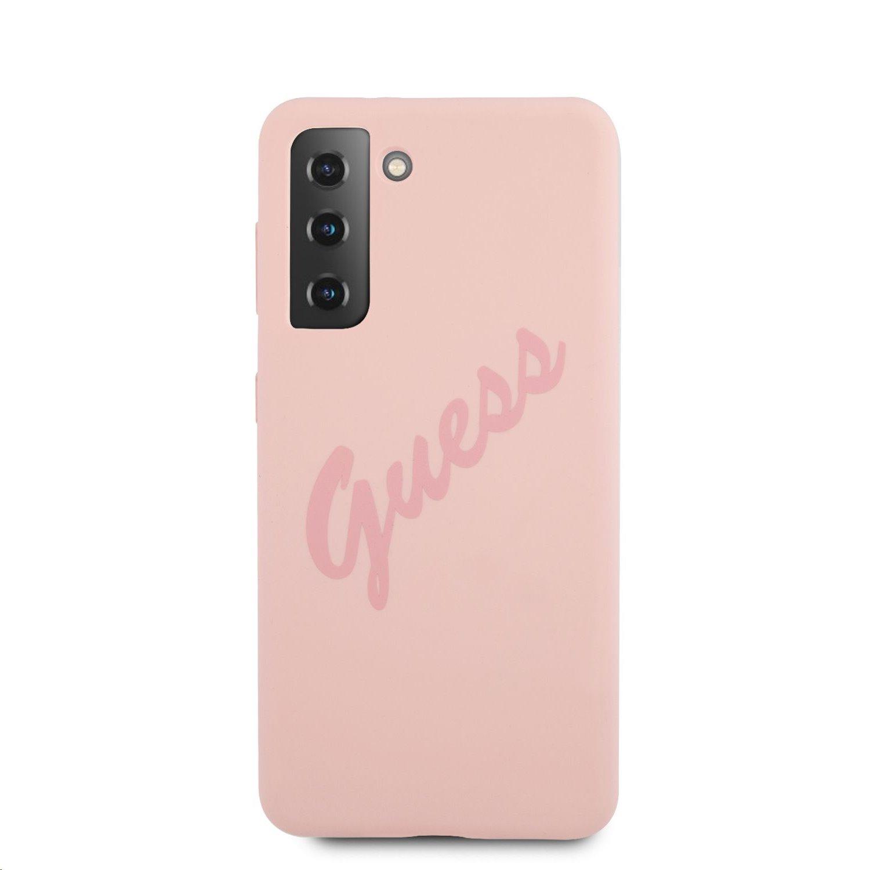 Guess Vintage silikonové pouzdro GUHCS21MLSVSPI pro Samsung Galaxy S21+, růžová