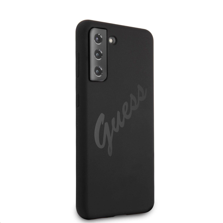 Guess Vintage silikonové pouzdro GUHCS21MLSVSBK pro Samsung Galaxy S21+, černá