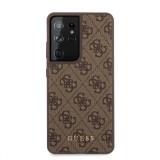 Guess 4G zadní kryt GUHCS21LG4GFBR pro Samsung Galaxy S21 Ultra, hnědá