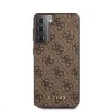 Guess 4G zadní kryt GUHCS21MG4GFBR pro Samsung Galaxy S21+, hnědá