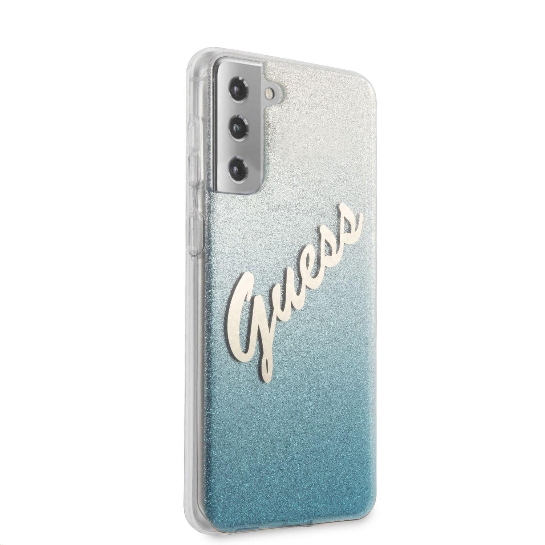 Zadní kryt Guess PC/TPU Vintage GUHCS21MPCUGLSBL pro Samsung Galaxy S21+, modrá