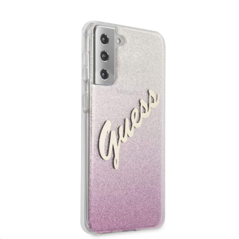Zadní kryt Guess PC/TPU Vintage pro Samsung Galaxy S21+, růžová