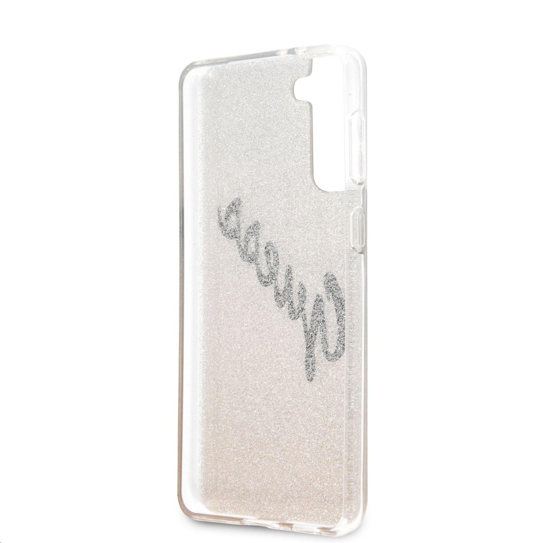 Zadní kryt Guess PC/TPU Vintage GUHCS21MPCUGLSGO pro Samsung Galaxy S21+, zlatá