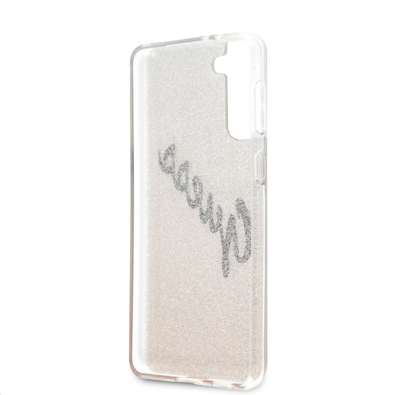 Zadní kryt Guess PC/TPU Vintage GUHCS21SPCUGLSGO pro Samsung Galaxy S21, zlatá